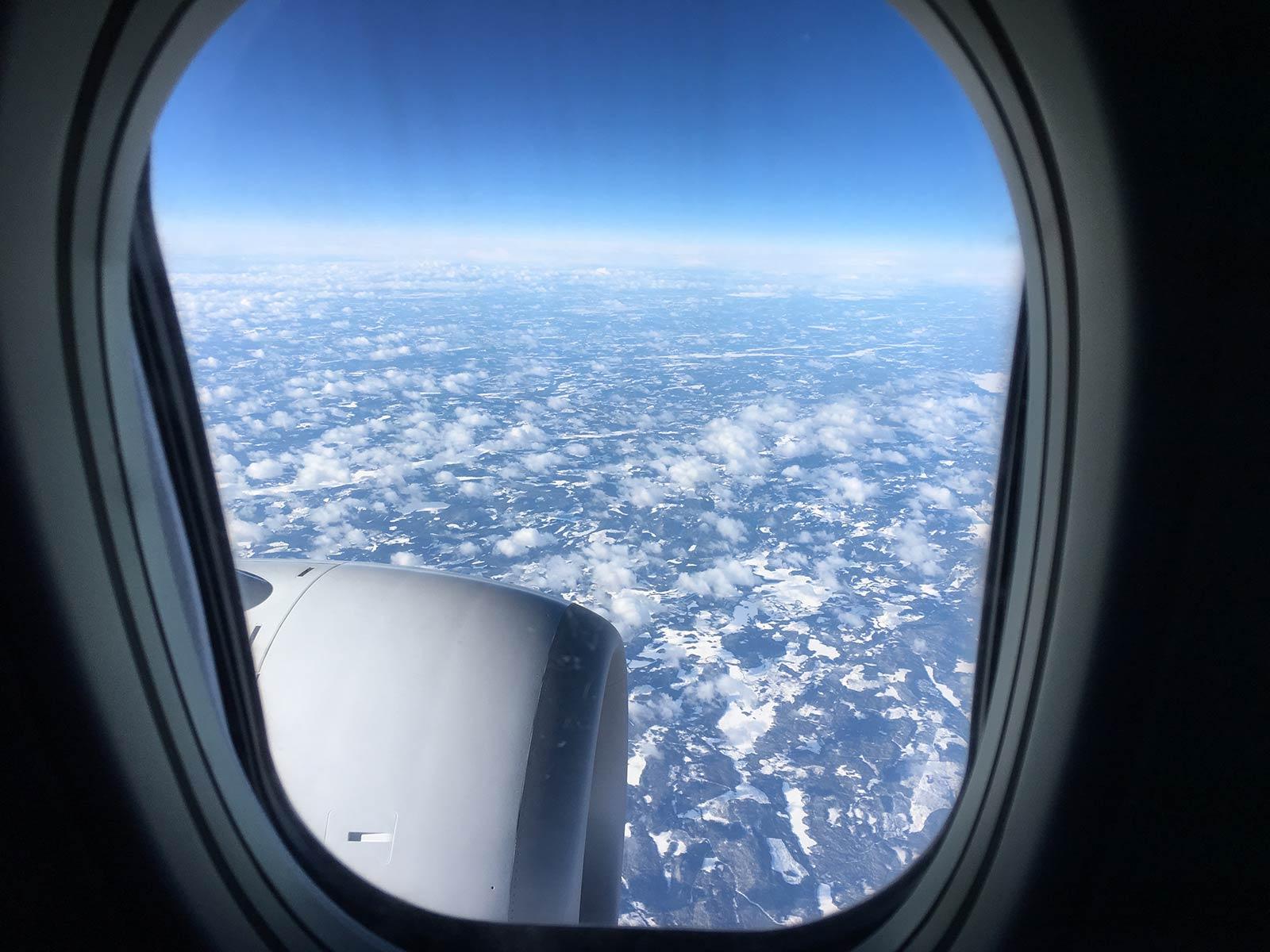 Flug über Schweden von Hannover nach Avidsjaur