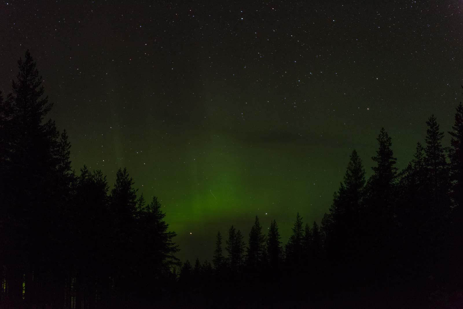 Nordlicht am schwedischen Himmel.