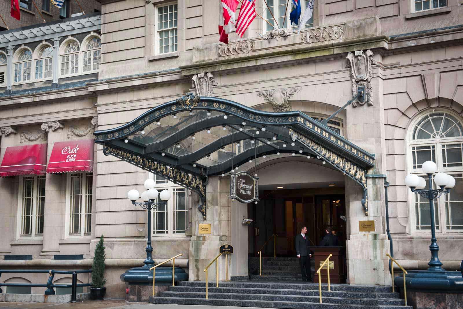 Eingang Fairmont Palliser Hotel Calgary