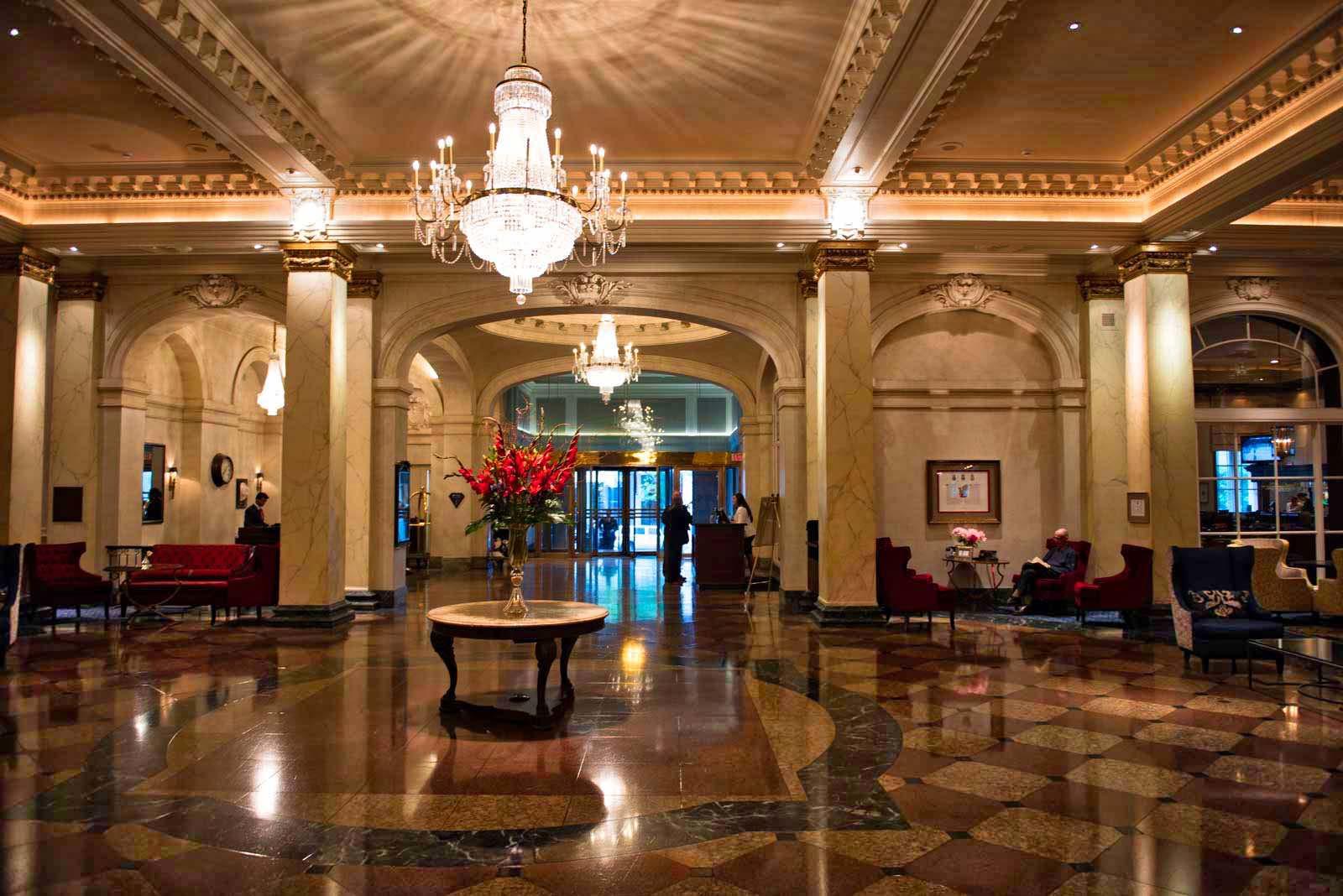 Der Empfang im Fairmont Palliser Hotel Calgary.